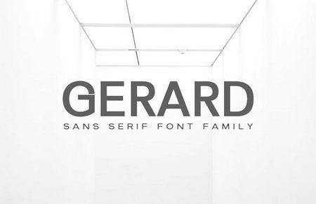 دانلود مجموعه فونت های Gerard Sans Serif