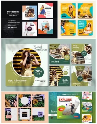 دانلود مجموعه پست های تخفیف و فروش ویژه اینستاگرام- Instagram Post Sale Pack