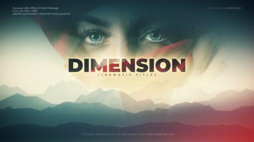 دانلود پروژه افترافکت نمایش عناوین سینمایی Dimension Cinematic title