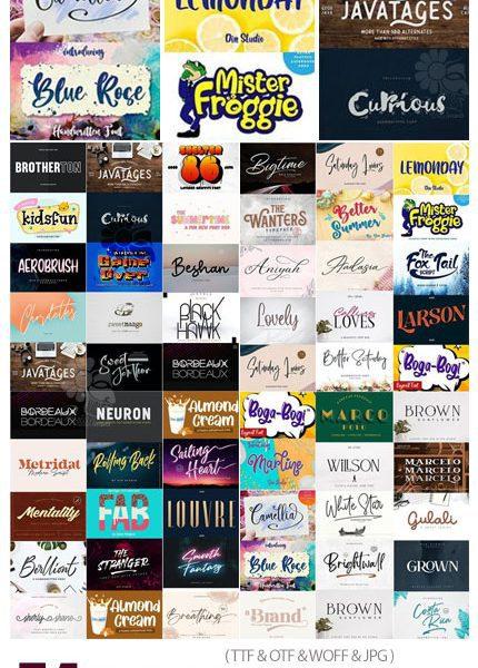 دانلود 54 فونت انگلیسی با طرح های جدید - 54 New Fonts Collection
