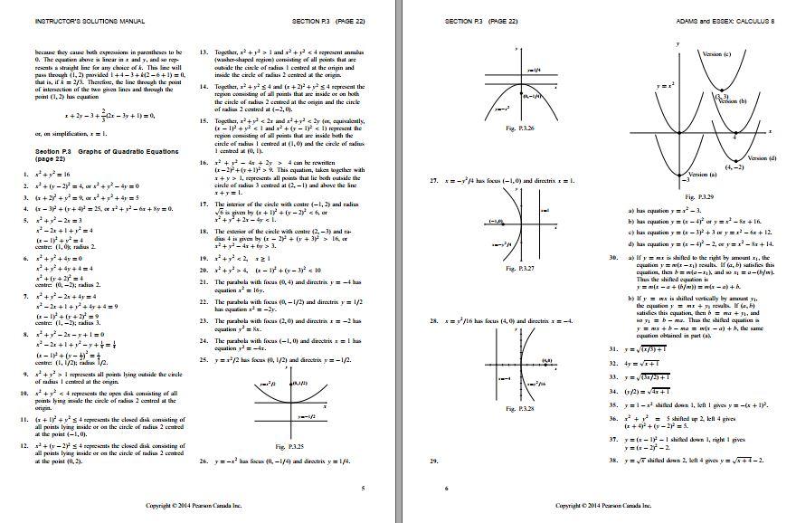 کتاب حل المسائل ریاضی آدامز ویراست 8