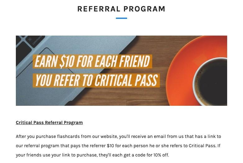 referral marketing critical pass ad