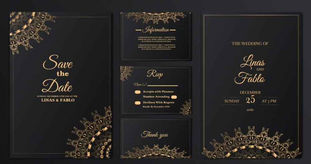 دانلود فایل لایه باز کارت عروسی شماره 4