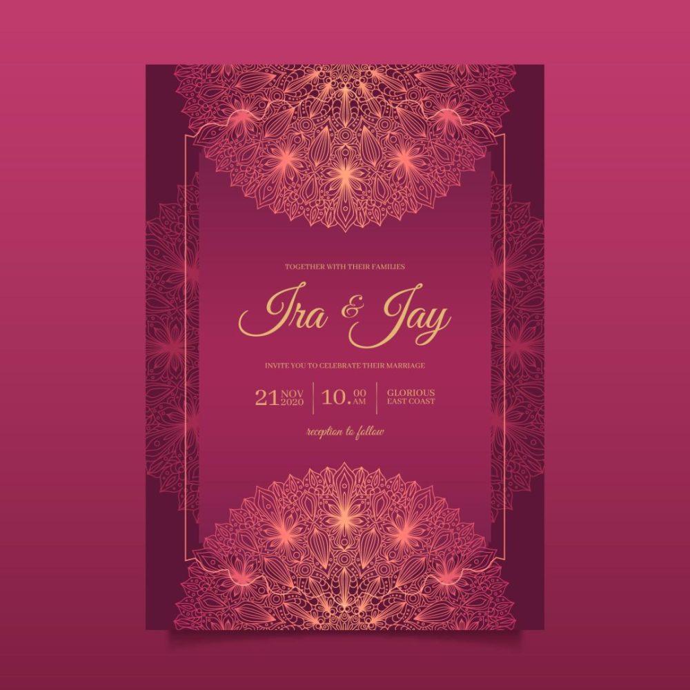 دانلود فایل لایه باز کارت عروسی شماره 1