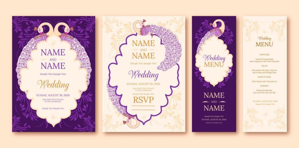 دانلود فایل لایه باز کارت عروسی شماره 3