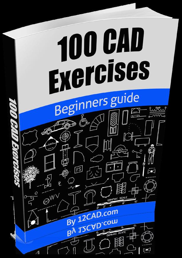 دانلود کتاب 100 تمرین اتوکد AutoCAD