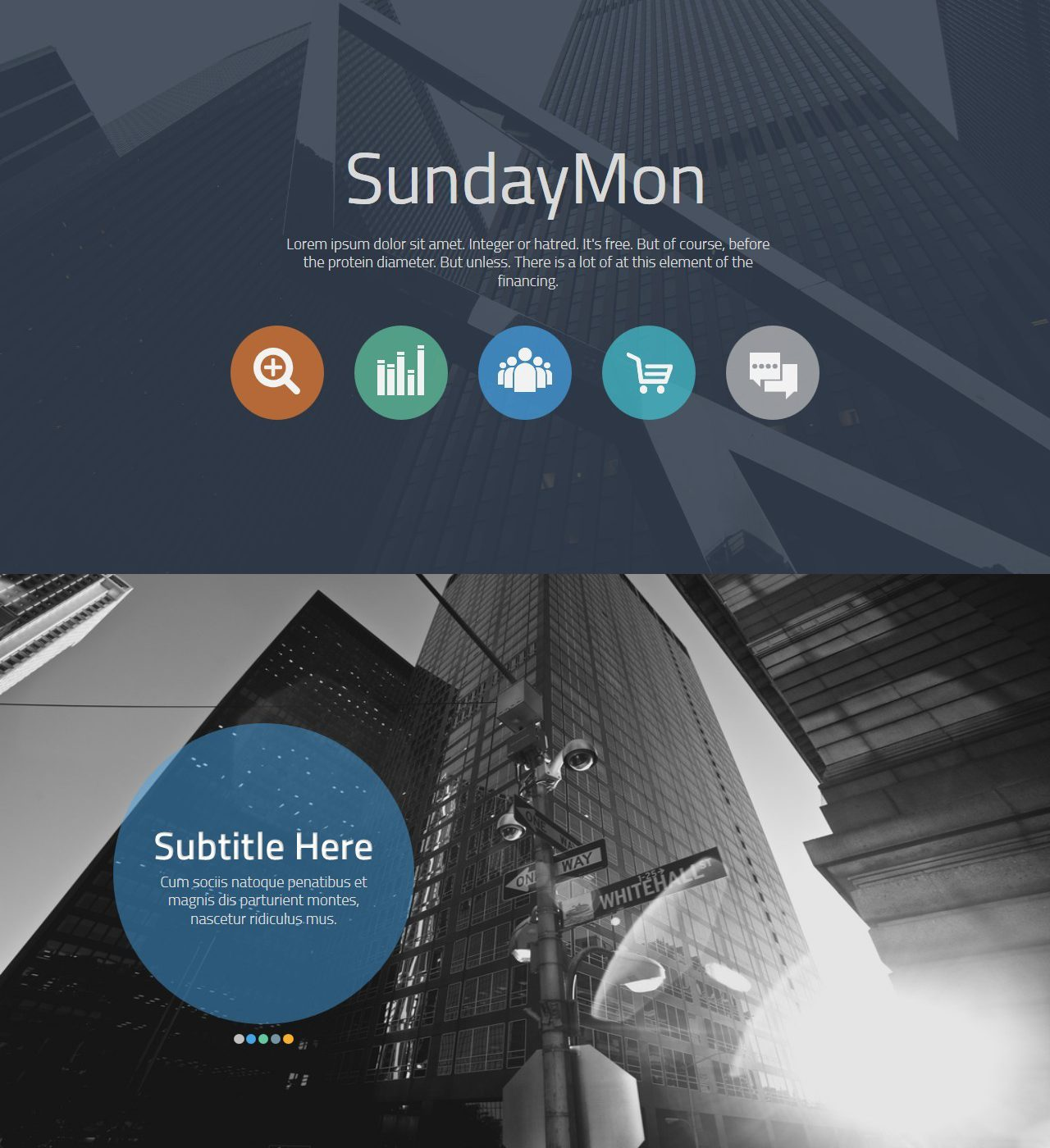 دانلود قالب آماده تجاری پاورپوینت SundayMon