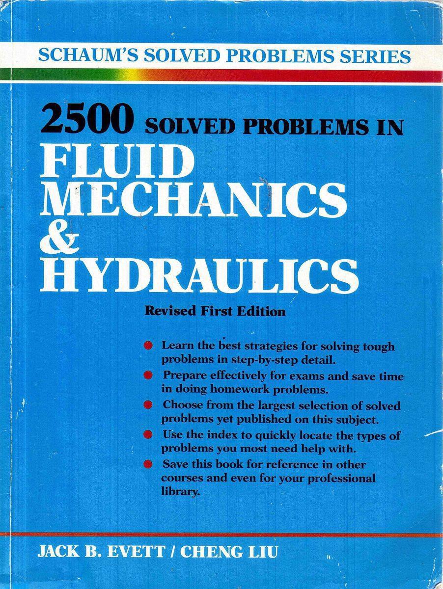 کتاب 2500 مساله حل شده مکانیک سیالات و هیدرولیک